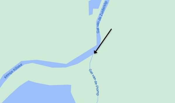 sup route biesbosch landkaart