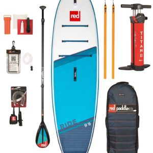 Red Paddle sup board set ride 9.8